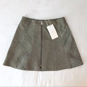 Zara check mini skirt NEW!